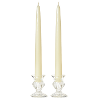 15 Inch Ivory Taper Candles Pair