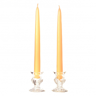 15 Inch Peach Taper Candles