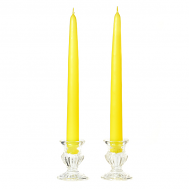 15 Inch Yellow Taper Candles