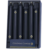 8 inch Black Classic Taper Candle