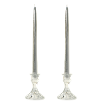 12 Inch Metallic Silver Taper Candles