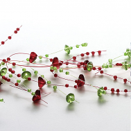 Green and Claret Beaded Garland
