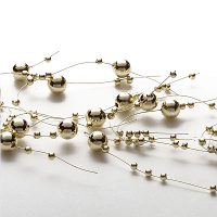 Pearl Metallic Gold Beaded Garland