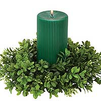 Boxwood Candle Rings 4 Inch