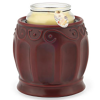 Crock Jar Warmers Roman Red