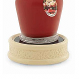 Embossed Plate Candle Warmer Cream