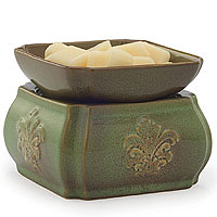 Candle Warmer & Dish Spring Demask