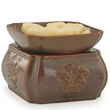 Candle Warmer & Dish Toffee Demask