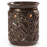 Rococo Ceramic Tart Warmer Brown