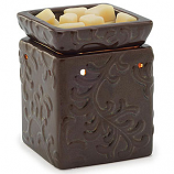 Square Embossed Tart Warmers Century Brown