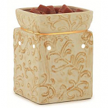 Square Embossed Tart Warmers Tuscan Cream