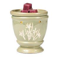 Iris Green Ceramic Tart Burner