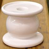 Dual Purpose White Ceramic Pillar and Taper Holder