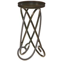 Looped Metal Candle Holders 9 Inch