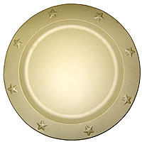 Tin Charger Plates 12 Inch Ivory