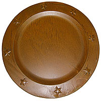 Tin Charger Plates 12 Inch Brown