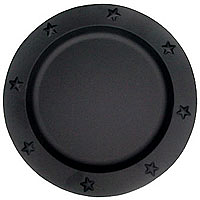 Tin Charger Plates 12 Inch Black