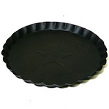 7.5 Inch Tin Plates With Scalloped Edge Black