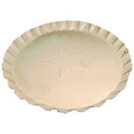 7.5 Inch Tin Plates With Scalloped Edge White