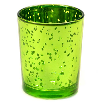 Speckled Green Straight Votive Cup