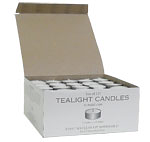 White Unscented Tea Lights 125 Pack
