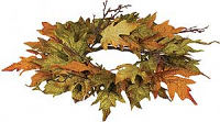 Maple Leaf 6.5 Inch Candle Ring