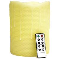 Honeycomb 6 x 8 Remote Control Pillar Candles