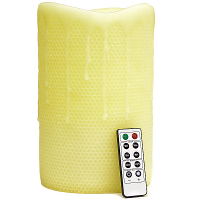 Honeycomb 6 x 10 Remote Control Pillar Candles