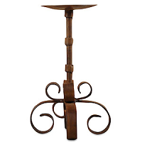 Siriana Iron Pillar Candle Holder 8 Inch