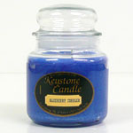 Blue Christmas Jar Candles 16 oz