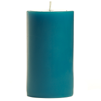 2 x 3 Blue Christmas Pillar Candles