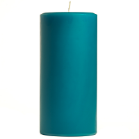 3 x 6 Blue Christmas Pillar Candles