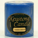4 x 4 Blue Christmas Pillar Candles
