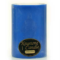 6 x 9 Blue Christmas Pillar Candles