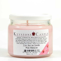Pink Hibiscus Soy Jar Candles 5 oz