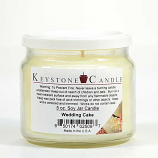 Wedding Cake Soy Jar Candles 5 oz