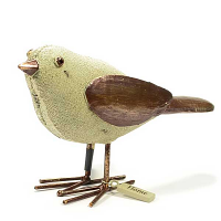 Little Linen Bird with Bronze Wings