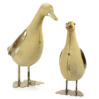 Pair of Linen Ducks