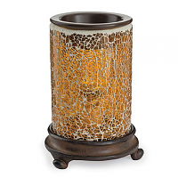 Crackled Amber Tart Burner