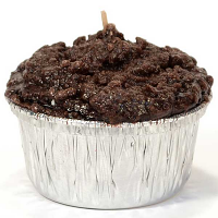 Double Chocolate Fudge Muffin Candle
