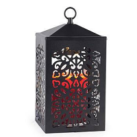 Scroll Lantern Candle Warmer Black