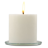 Unscented White 6 x 6 Outdoor Candle