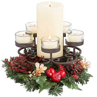 Traditions Pillar and Tea Light Holder