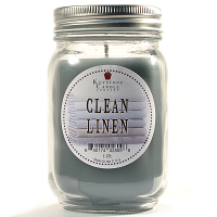 Clean Linen Mason Jar Candle Pint