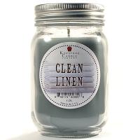 Clean Linen Mason Jar Candle Pint