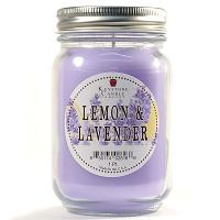 Lemon and Lavender Mason Jar Candle Pint