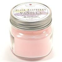 Black Raspberry Vanilla Mason Jar Candle Half Pint