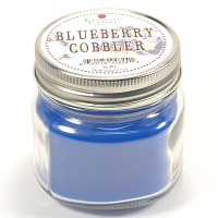 Blueberry Cobbler Mason Jar Candle Half Pint