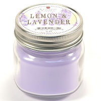 Lemon and Lavender Mason Jar Candle Half Pint