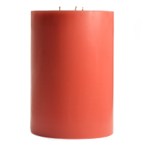 6 x 9 Amber Oud Wood Pillar Candles
